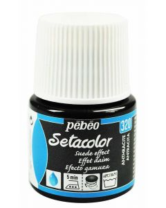 Pebeo Setacolor Opaque Suede Effect Fabric Paint - Anthracite