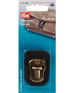 Prym Antique Brass 40mm Tuck Lock Fastening