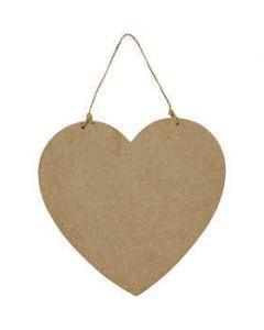 Creativ Large Wooden Heart Door Sign