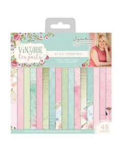 Sara Signature Vintage Tea Party Collection - 6x6 Paper Pad