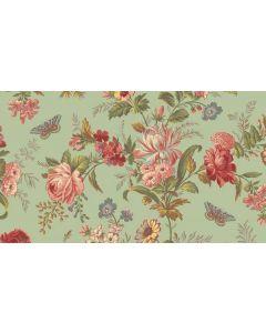 Makower Edyta Sitar Bed of Roses - Pistachio