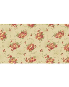 Makower Edyta Sitar Bed of Roses - Dahlia Cream