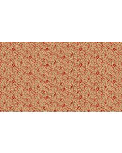Makower Riviera Rose fabric - Mosaic Red