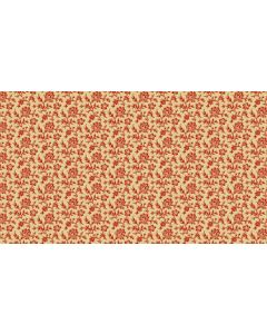 Makower Riviera Rose fabric - Outlined Flowers Tan