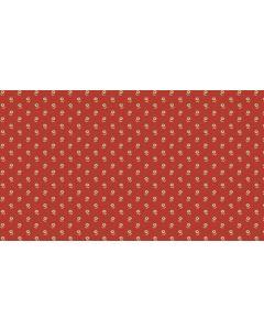 Makower Riviera Rose fabric - Set Daisies Red
