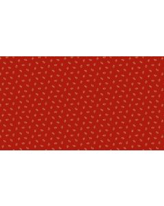Makower Riviera Rose fabric - Moonflowers Tossed Red