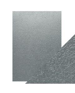 Tonic Studios Craft Perfect Embossed Card - Ice Grey Glacier
