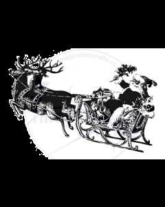 Imagination Crafts Art Stamps 135mm x 91mm - Santa Claus Sleigh