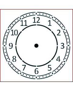 Imagination Crafts Stencil 6x6 - Arabic Clock