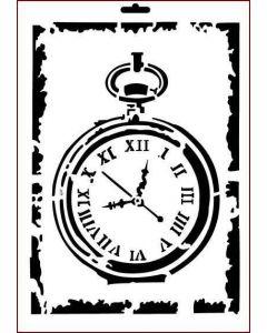 Imagination Crafts A4 Art Stencil - Antique Pocket Watch