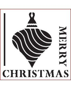 Imagination Crafts 6x6 Christmas Stencil - Merry Christmas Bauble