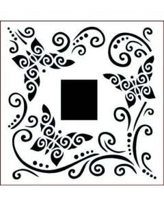Imagination Crafts Stencil 6x6 - Butterfly Curls Border