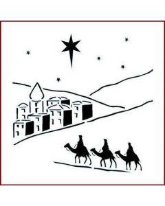 Imagination Crafts 6x6 Christmas Stencil - Bethlehem
