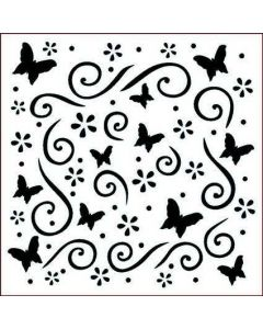 Imagination Crafts Stencil 6x6 - Butterfly Dreams