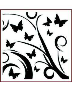 Imagination Crafts Stencil 6x6 - Butterfly Flourish