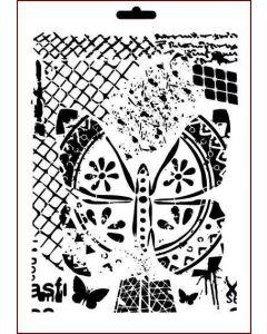 Imagination Crafts A4 Art Stencil - Crosshatch Elements