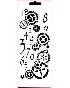 Imagination Crafts Art Stencils 25cm x 10cm - Counting Cogs