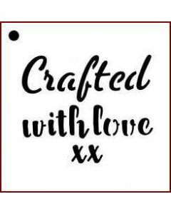 Imagination Crafts Mini Stencil - Crafted With Love