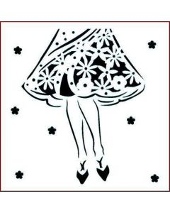 Imagination Crafts Stencil 6x6 - Dress