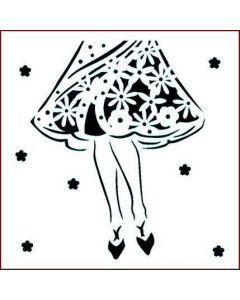 Imagination Crafts Stencil 6x6 - Dress