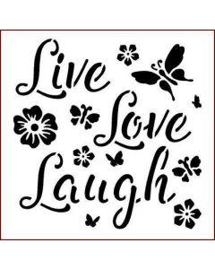 Imagination Crafts Stencil 6x6 - Live Laugh Laugh