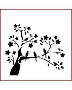 Imagination Crafts Stencil 6x6 - Summer Tree