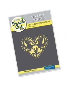 Claritystamp Fresh Cut Die - Dove Heart