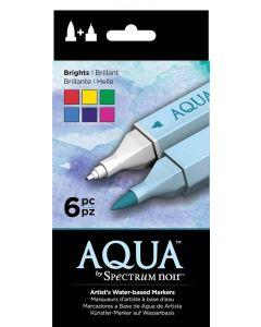 Aqua by Spectrum Noir 6 Pen Set – Brights