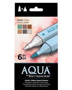 Aqua by Spectrum Noir 6 Pen Set – Earth