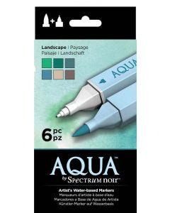 Aqua by Spectrum Noir 6 Pen Set – Landscape