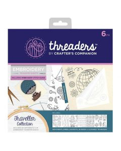 Threaders Embroidery Transfer Sheets - Traveller