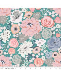 Riley Blake Edie Jane fabric - Main Teal