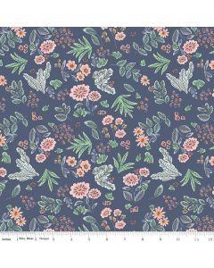 Riley Blake Edie Jane fabric - Floral Navy