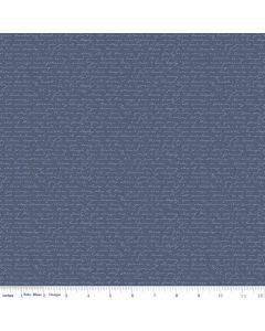 Riley Blake Edie Jane fabric - Letter Navy