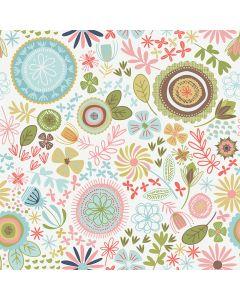 Sara Signature Sew Retro Fabric - Cream Main