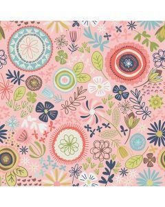 Sara Signature Sew Retro Fabric - Pink Main