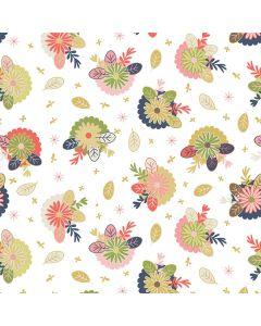 Sara Signature Sew Retro Fabric - Cream Posies
