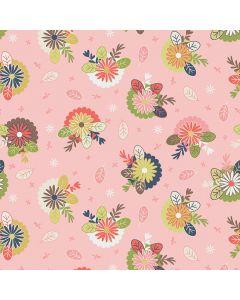 Sara Signature Sew Retro Fabric - Pink Posies