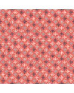 Sara Signature Sew Retro Fabric - Red Star Flowers