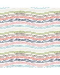 Sara Signature Sew Retro Fabric - Cream Waves
