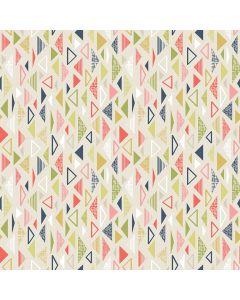 Sara Signature Sew Retro Fabric - Cream Triangles