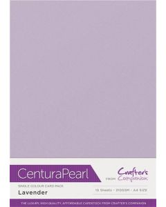Crafter's Companion Centura Pearl Single Colour A4 10 Sheet Pack - Lavender