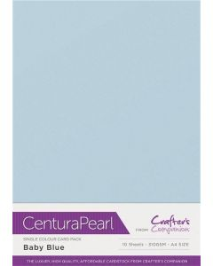Crafter's Companion Centura Pearl Single Colour A4 10 Sheet Pack - Baby Blue