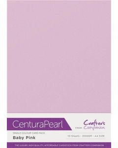 Crafter's Companion Centura Pearl Single Colour A4 10 Sheet Pack - Baby Pink