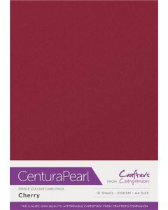 Crafter's Companion Centura Pearl Single Colour A4 10 Sheet Pack - Cherry