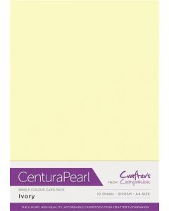 Crafter's Companion Centura Pearl Single Colour A4 10 Sheet Pack - Ivory