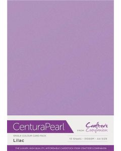 Crafter's Companion Centura Pearl Single Colour A4 10 Sheet Pack - Lilac