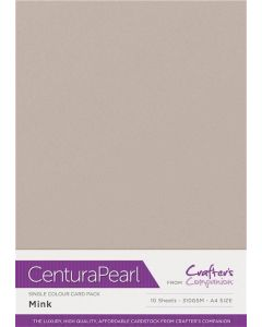Crafter's Companion Centura Pearl Single Colour A4 10 Sheet Pack - Mink