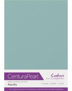 Crafter's Companion Centura Pearl Single Colour A4 10 Sheet Pack - Pacific