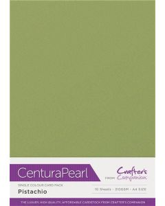 Crafter's Companion Centura Pearl Single Colour A4 10 Sheet Pack - Pistachio